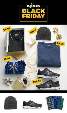 Guys are always hard to shop for. Here are a few ideas to save on to get your holiday shopping started. Plus, earn $15 Kohl's Cash for every $50 you spend. Shop Black Friday deals for men and young men at Kohl's. #blackfriday #blackfridaysale #shopping #giftforhim