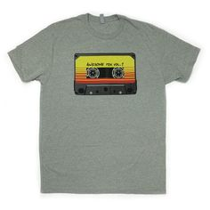 Make everyone jealous with and graphic tee that will make millennials ask you why your wearing a VHS on your chest.   Next years mix will featureartistssuch as Kenny Logins, that bald chick from the 80's and all the MP3s I downloaded from Napster in the high school computer lab. Printed on a 60/40 cotton poly pre shrunk shirt for a perfect fit.