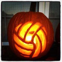 Volleyball Jack-o-lantern!