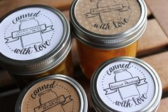 Free printable canning labels from Ladyface Blog & imaginejoy calligraphy