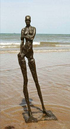 Contemporary abstract / figurative sculpture in Bronze, by Elisabeth Hadley | From a unique collection of antique and modern garden ornaments at http://www.1stdibs.com/furniture/building-garden/garden-ornaments/