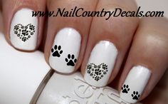 Copy of 50 pc I Love My Dog Dogs Paw Print Prints Dog Bone Nail Decals Nail Art Nail Stickers Best Price NC701