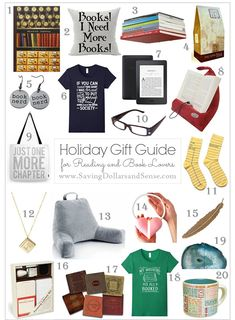 Looking for gifts for the book lover on your list? I have you covered with my top 20 picks for the book lover on your Christmas shopping list! Book Lovers Gifts, Book Gifts, Holiday Gift Guide, Holiday Gifts, Holiday Fun, Holiday Ideas, Xmas Ideas, Christmas Shopping List, Gifts For Readers