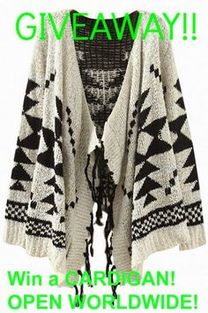 MyStyleSpot: GIVEAWAY: Win a Cardigan of Choice!   #OPEN WORLDWIDE! click to enter! Ends Oct 23, 2014  #contest #win #sweepstakes #giveaway #mystylespot #oasap #cardigan #fashion #women #teen #youth #style #Shopping #clothes #clothing