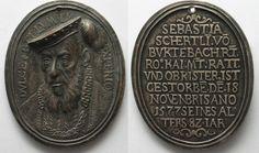 1577 Deutschland - Medaillen SEBASTIAN SCHERTLIN VON BURTENBACH 1577 silver medal by Drentwett # 93871 EF Coin Collecting, Coins, Copper, Personalized Items, Germany, Brass