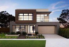 modern house facades for two story house Minimalist House Design, Minimalist Home, Modern House Design, Two Story House Design, Double Story House, Modern House Facades, Modern Architecture House, Facade Design, Exterior Design