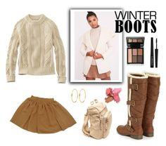 """Camel Winter Boots"" by knitsbynat on Polyvore featuring L.L.Bean, American Apparel and e.l.f."