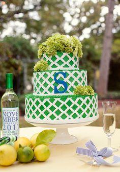 Monogrammed wedding cake! Keywords: #weddings #jevelweddingplanning Follow Us: www.jevelweddingplanning.com www.facebook.com/jevelweddingplanning/