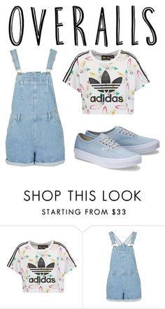 """""""Overalls and Adidas"""" by t2nite2morow ❤ liked on Polyvore featuring adidas Originals, TrickyTrend and overalls"""