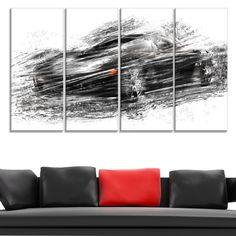 DESIGN ART Sports Car Gallery Wrapped Canvas (48X24)