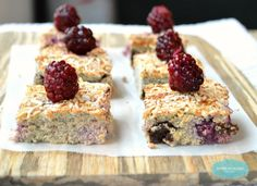 Coconut Raspberries Bars with choco chips