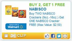 Buy 2 Get 1 FREE Nabisco Crackers Coupon on http://www.icravefreebies.com/