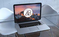 Realistic Retina Macbook Pro Mockup