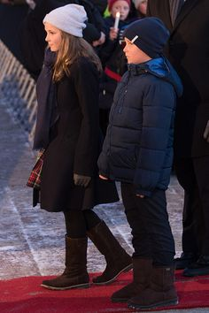 Princess Ingrid Alexandra of Norway and Prince Sverre Magnus of Norway attend the 25th anniversary of King Harald V and Queen Sonja of Norway as monarchs on January 17, 2016 in Oslo, Norway.