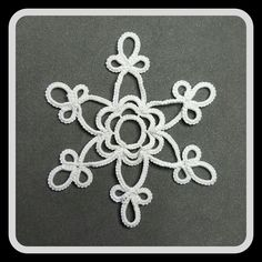 Tatted snowflake.