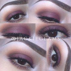Using morphe eyeshadow and Anastasia Beverly Hills AmrezyPalette palette  #vegas_nay #makeup #burgandy #makeuplooks #eyeshadow