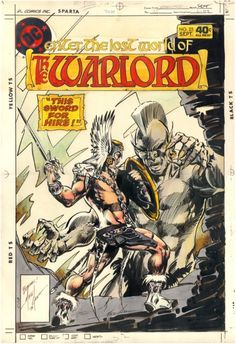 Mike Grell cover art for Warlord #25  DC Comics