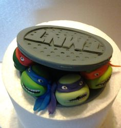 Teenage mutant ninja turtles sewer fondant cake by Cupncake1, $52.00 Love this, in Arizona too!!