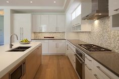 White Flat Panel Cabinets Design Ideas, Pictures, Remodel, and Decor
