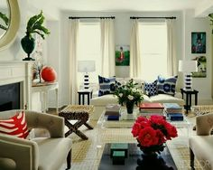 Have You Seen These Popular Living Rooms on Pinterest? -  laurel home- alternative summer scheme for fam room