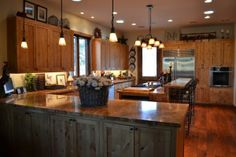 The ideal country #kitchen design. We can help you achieve this countertop look, with #VT Dimensions. www.vtindustries.com