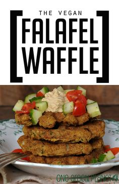 Vegan Falafel Waffle http://onegr.pl/1zF1Doy #recipe #veganize