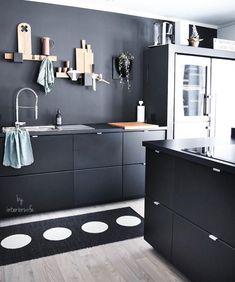 Black kitchen #instagram