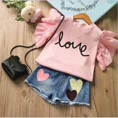 Children Clothing 2019 Summer Toddler Girls Clothes Outfits Kids Clothes For Girls Tracksuit Suit For Girls Clothing Sets Girls Summer Outfits, Toddler Girl Outfits, Baby Outfits Newborn, Summer Girls, Toddler Girls, Summer Baby, Baby Girls, Girls Toys, Summer Set