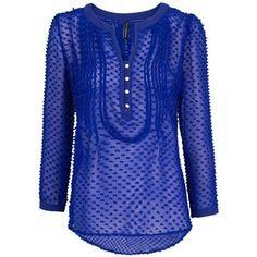 Mango Silk and cotton plumeti blouse