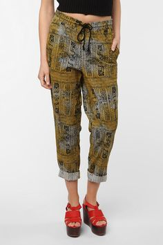 Insight Etchings Tie-Waist Pant