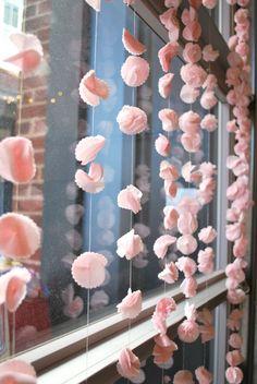 DIY: Cherry Blossom Garlands from @Erin Robinson Vintage