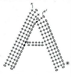Crochet letter diagrams, use google translate for english http://elduendedeloshilos.blogspot.com/2009/12/abecedario-lanudo.html