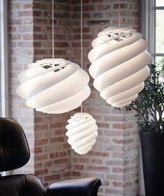 #Designer Øivind Slaato has created the Swirl #Lamp for manufacturer Le Klint.