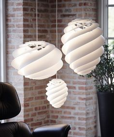 Designer Øivind Slaato has created the Swirl Lamp for manufacturer Le Klint.