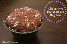 Microwave PB2 Chocolate Mug Cake | No Thanks to Cake