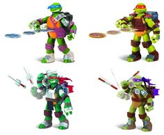 flingerz #teenage mutant ninja #turtles action figures with #weapons - flingerz,  View more on the LINK: 	http://www.zeppy.io/product/gb/2/141089564924/