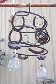 Horseshoe Hanging Wine Rack $158.00