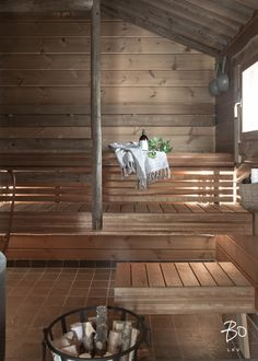 Inside A House, Outdoor Sauna, Wellness Spa, Boat Dock, Home And Living, Cottage, House Design, Cabin, Interior Design