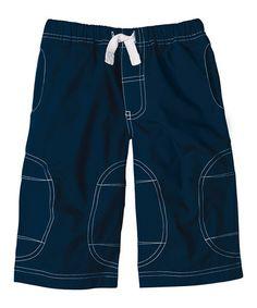Look what I found on #zulily! Navy Deck Shorts - Infant, Toddler & Boys #zulilyfinds