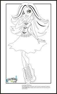 Monster High Spectra Vondergeist Coloring Pages