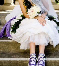 Converse shoes!  Cute :)