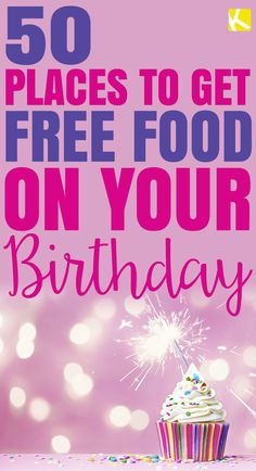 Who doesn't like the gift of free food? Since restaurant deals vary by location, we strongly urge you to call ahead and make sure a. Freebies On Your Birthday, Free On Your Birthday, Free Birthday Food, Birthday Rewards, 75th Birthday, Birthday Stuff, Birthday Parties, Birthday Gifts, Freebies By Mail