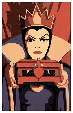 Disney Villains Minimalistic Poster Set of three The Queen