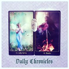 #dailychronicles for March 25th.  Lady Spring brings a new cycle for you today. Not only with a feeling of rejuvenation but also determination!  This new start has you all fired up and ready to go now is the time for action and to believe in yourself - go get 'em!  #chroniclesofdestiny #fortunecards #cartomancy #divination #tarot #tarotcards #oraclecards #guidance #cardoftheday #ladyspring #resolve by emsellershaw