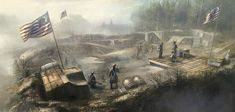 Assassin's Creed III Art & Pictures  Continental Army Camp