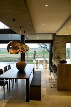 | Steel | House Serengeti | Dining area | Nico van der Meulen Architects | M Square Lifestyle Design #Contemporary