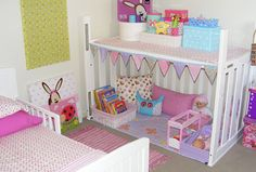Turn crib into play area