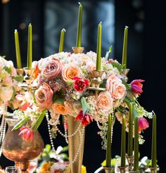 Centerpiece by Bloomerent florist Mimulo.
