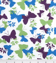 Quilter's Showcase Fabric-Butterfly Imp Blue Green Purple White: keepsake calico fabric: quilting fabric & kits: fabric: Shop | Joann.com