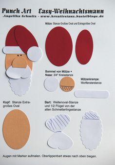 Punch Art Adventskalender Weihnachtsmann Santa Claus #punchart #tutorial KreativStanz Stampin' Up! http://kreativstanz.bastelblogs.de